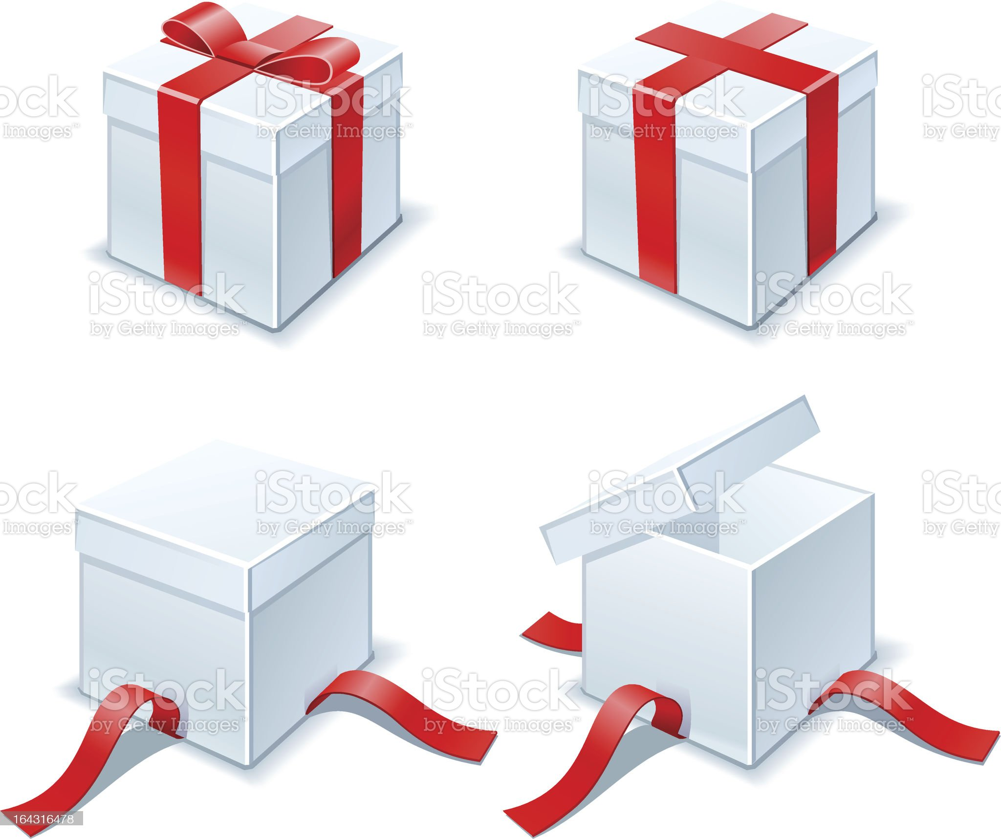 christmas boxes royalty-free stock vector art