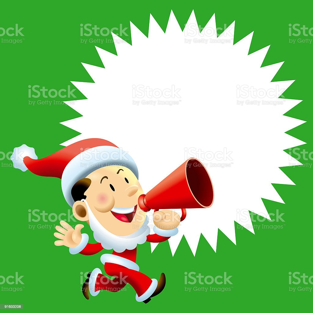 Christmas Business Man 02 royalty-free stock vector art