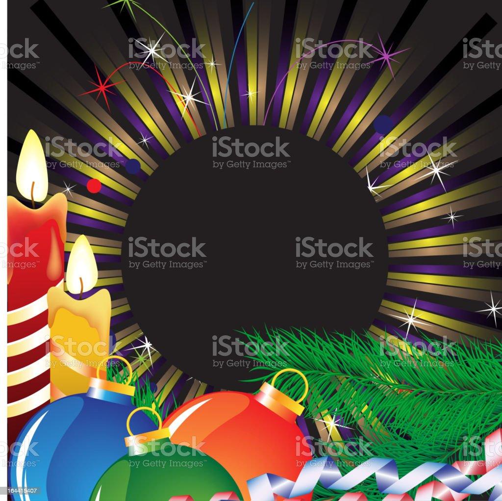 Christmas candles and bright tinsel royalty-free stock vector art