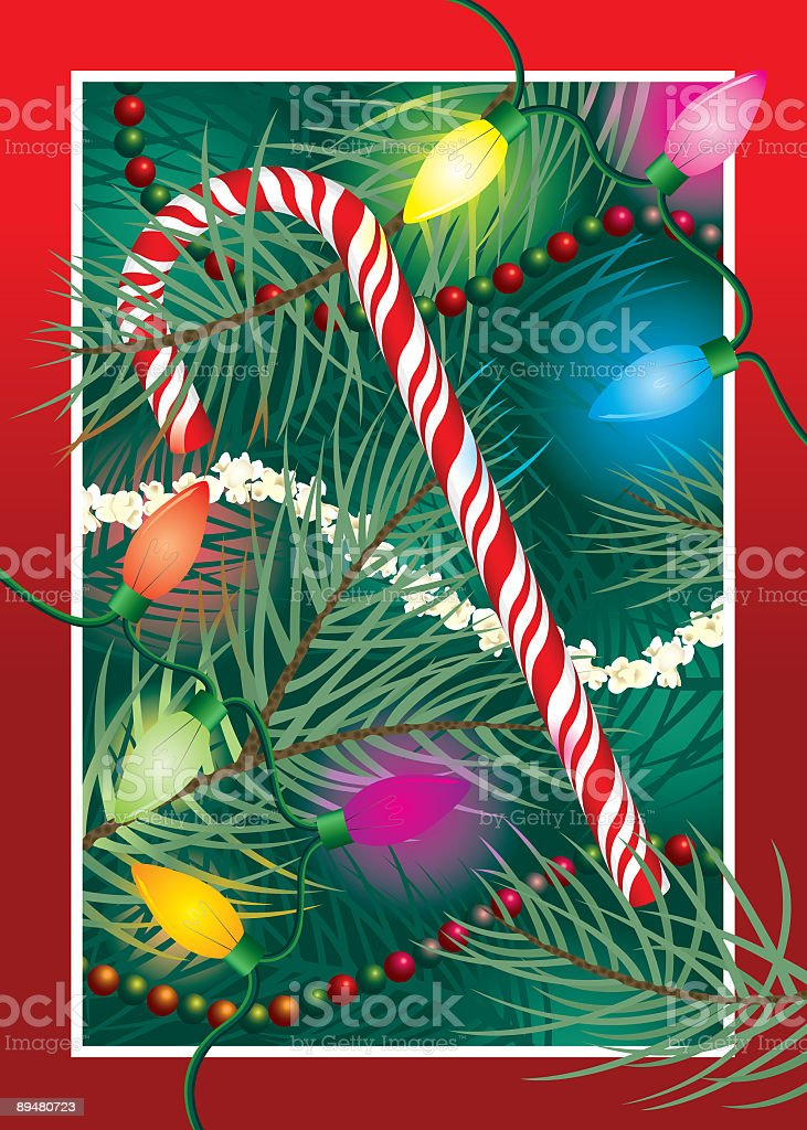 Christmas Candy Cane royalty-free stock vector art
