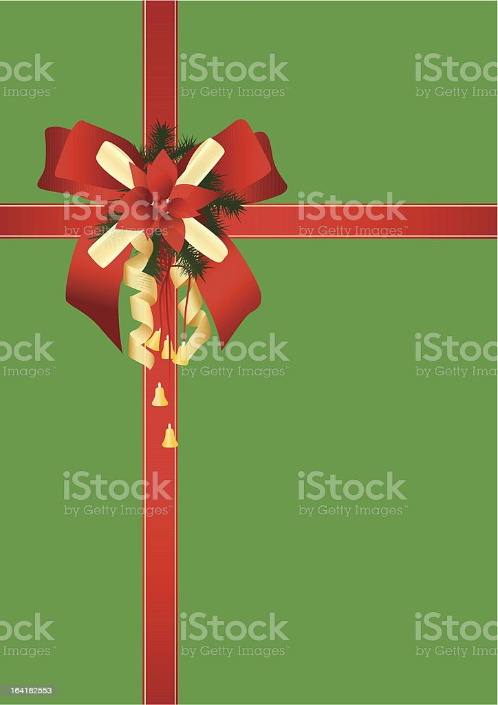 Christmas card red royalty-free stock vector art