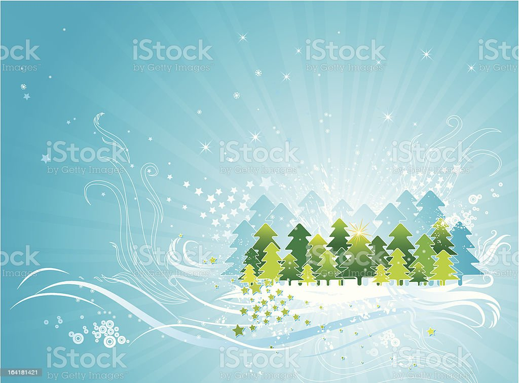 christmas card, vector royalty-free stock vector art