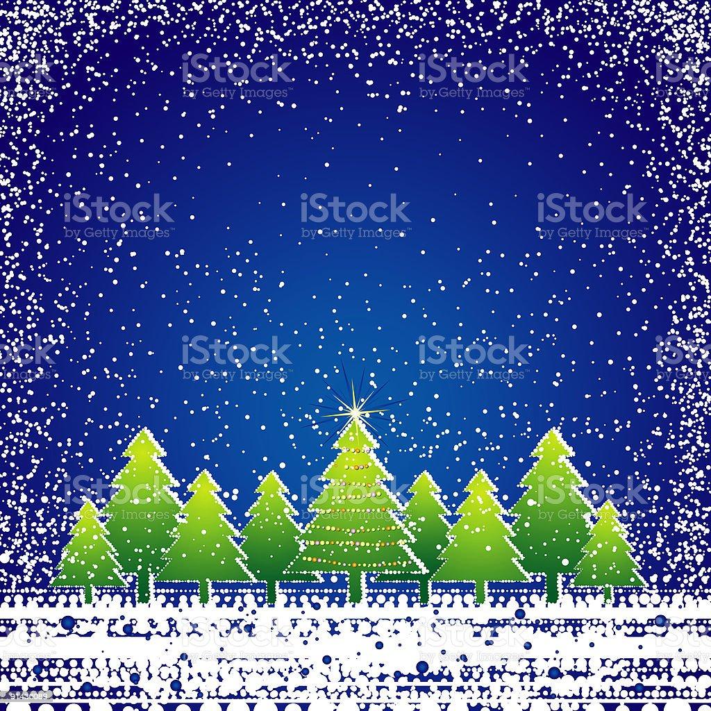 christmas card , vector royalty-free stock vector art