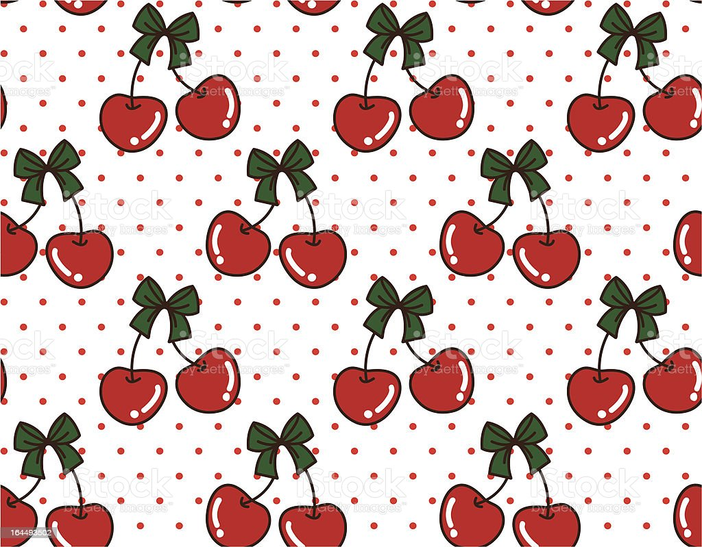 Christmas Cherry vector art illustration