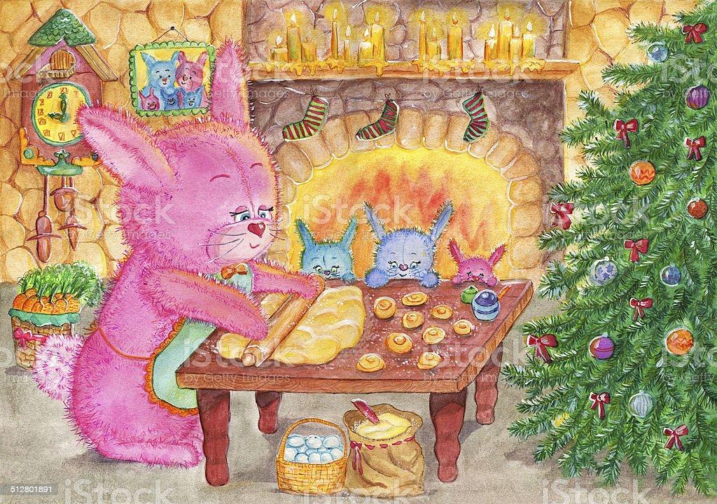 Christmas cookies vector art illustration