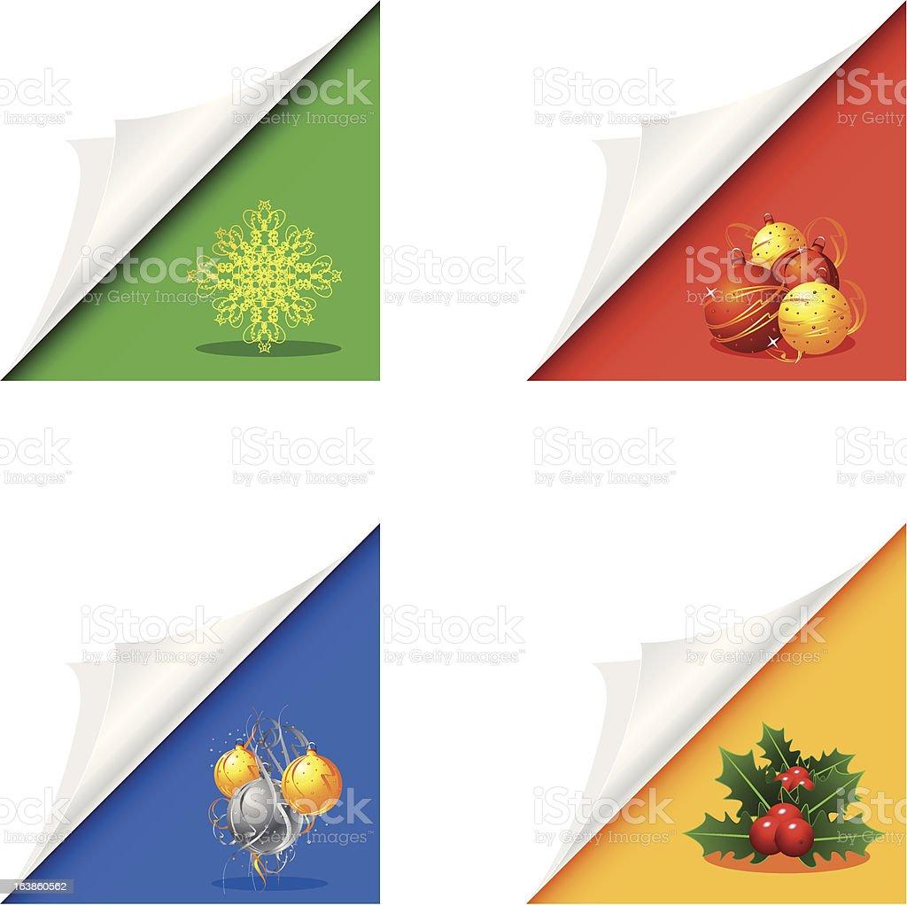 Christmas corner page royalty-free stock vector art