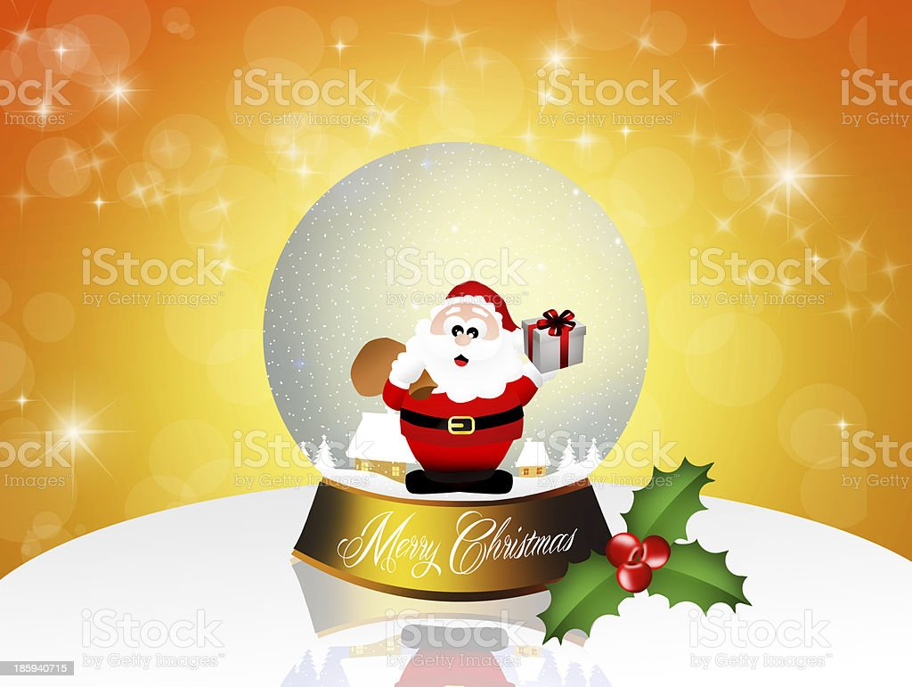 Christmas crystal ball royalty-free stock vector art