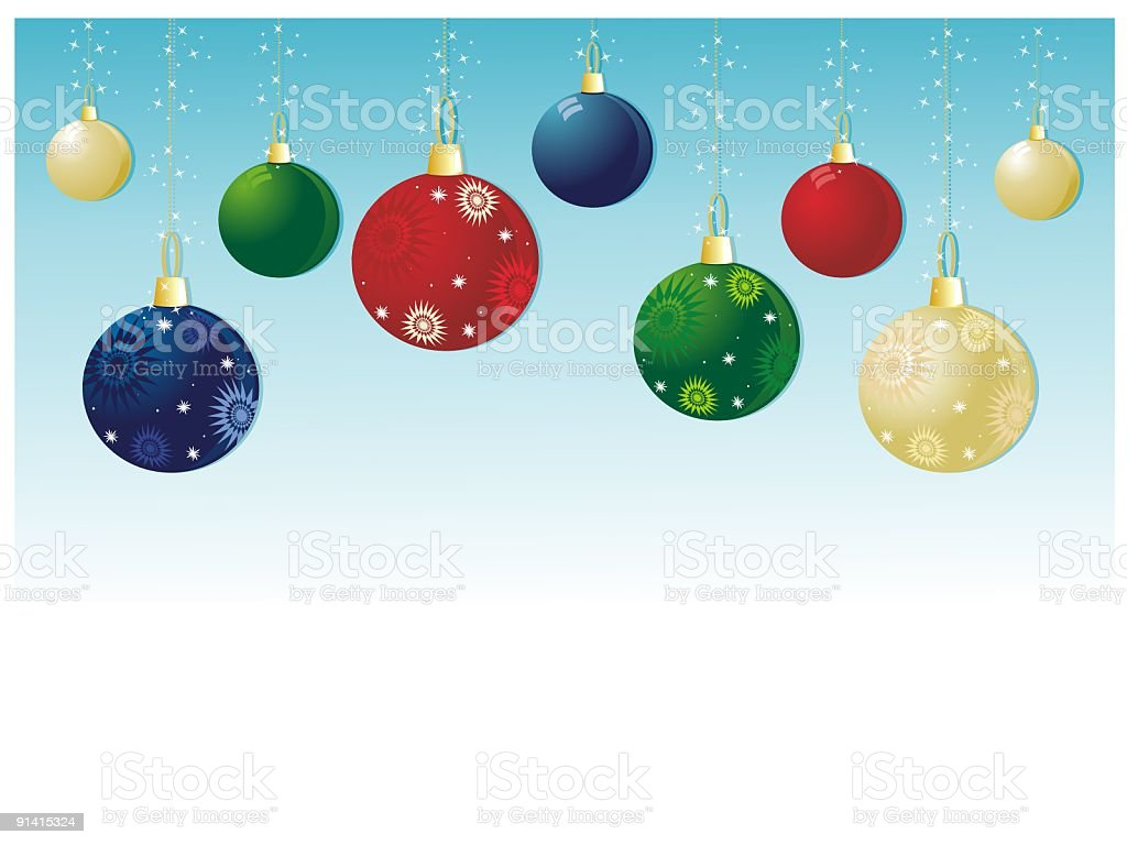 Christmas Decorations royalty-free stock vector art