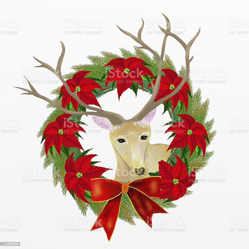 Christmas Deer royalty-free stock vector art