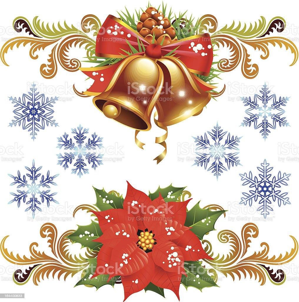 Christmas design elements set 2 royalty-free stock vector art