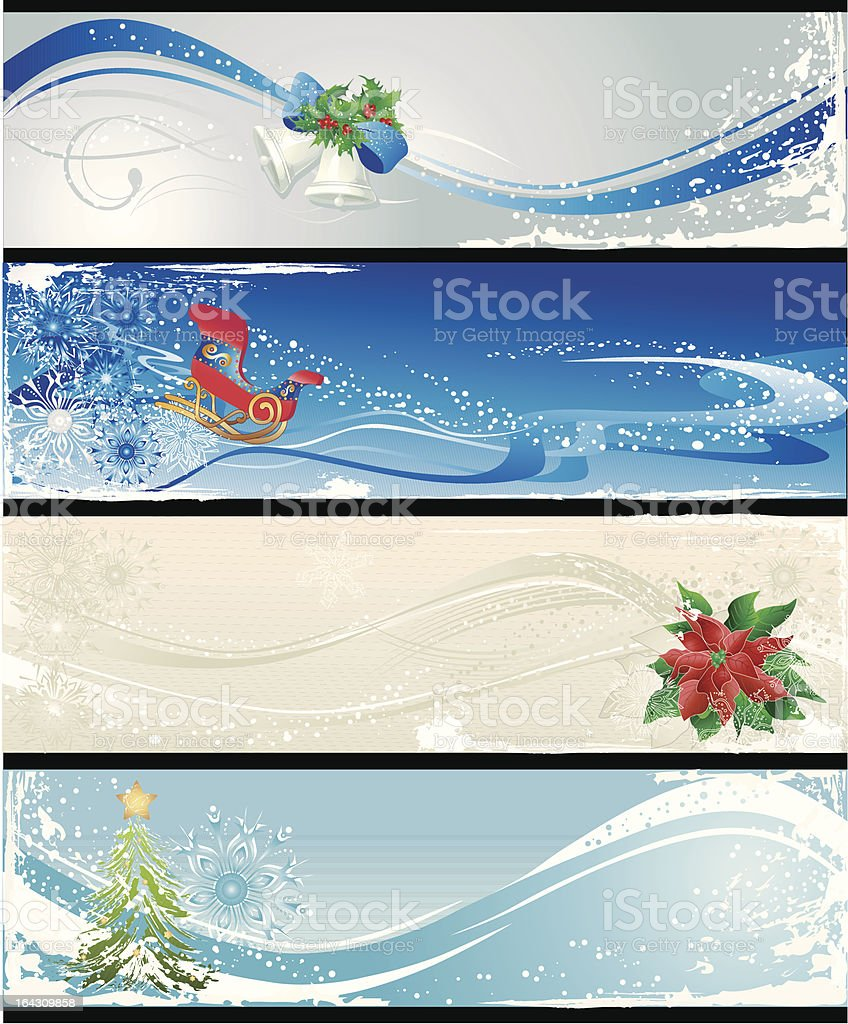 christmas  different banners royalty-free stock vector art