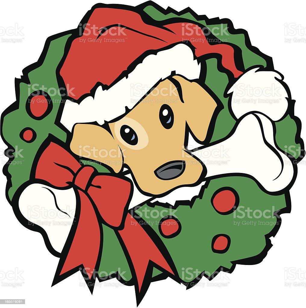 Christmas Dog royalty-free stock vector art