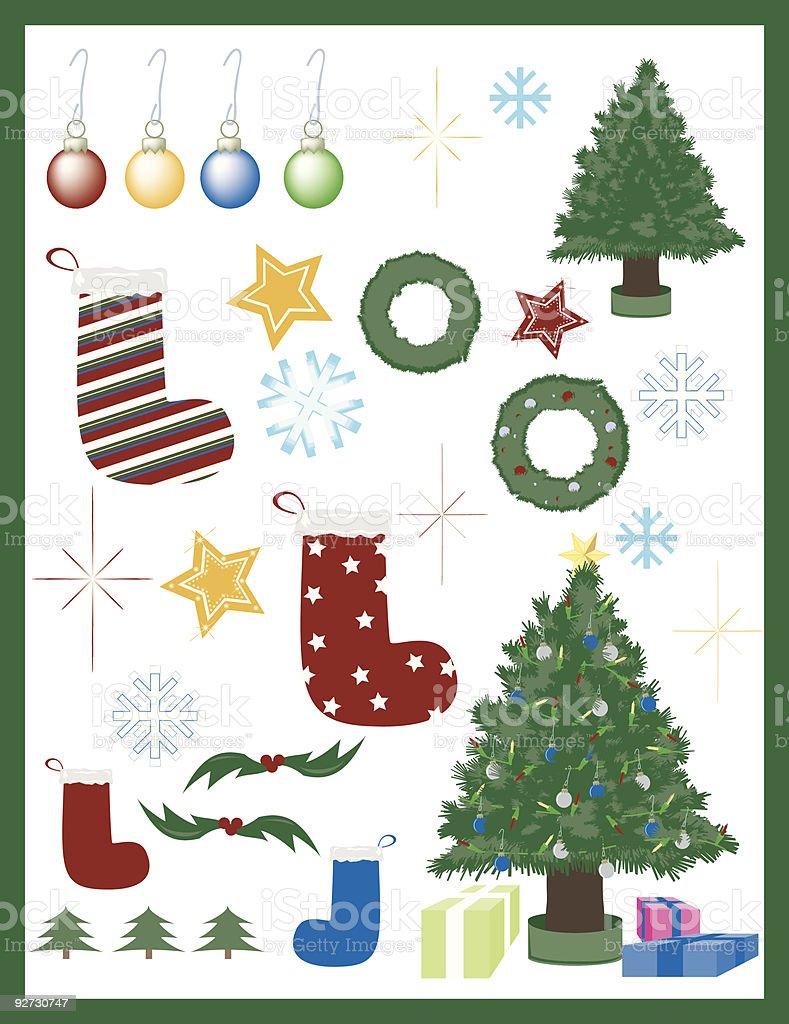 Christmas Elements royalty-free stock vector art