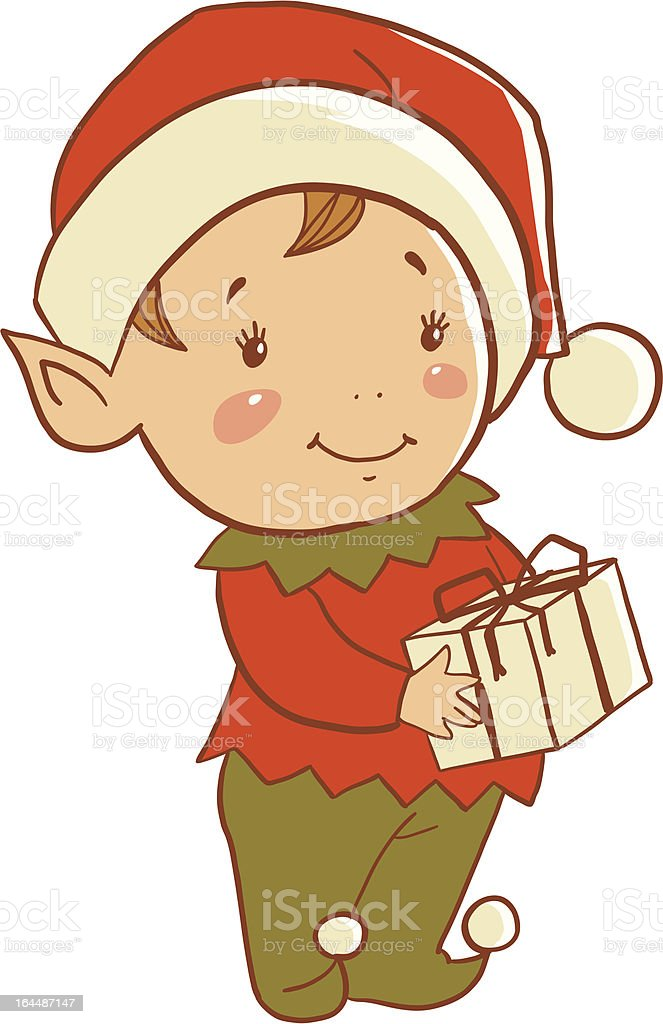 Christmas elf royalty-free stock vector art