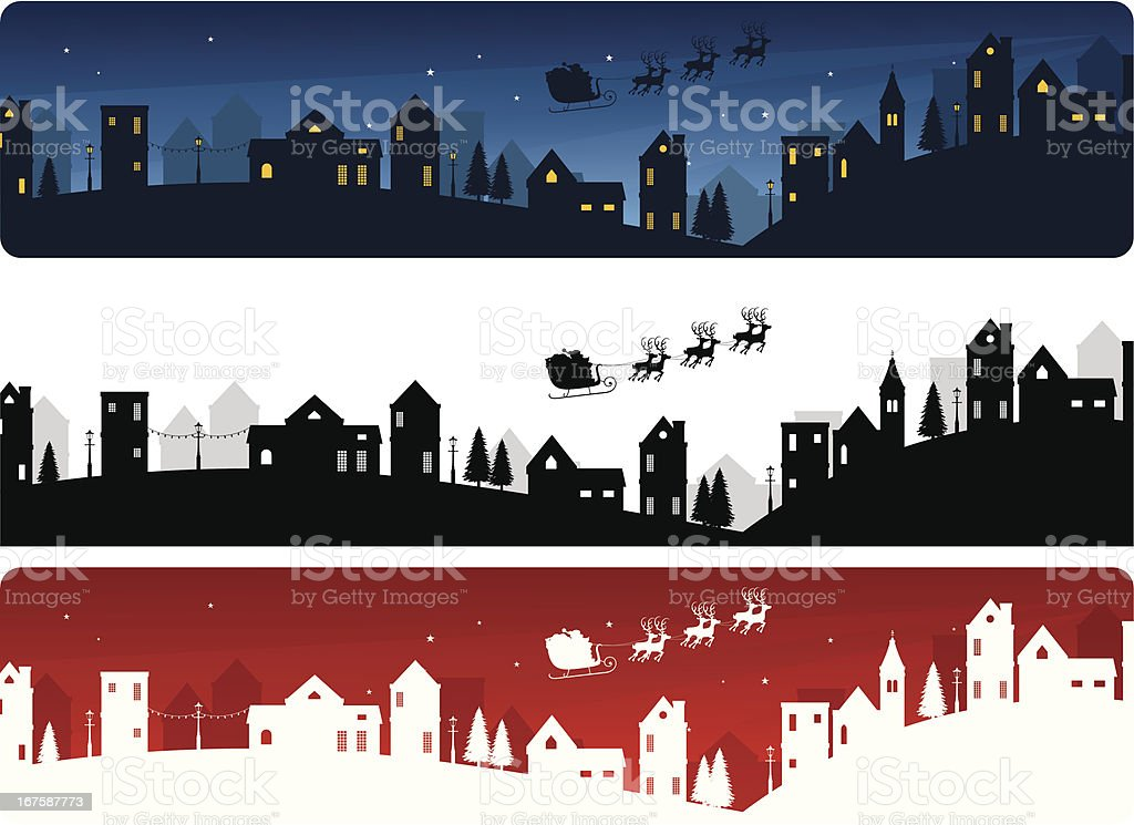Christmas Eve Banners royalty-free stock vector art