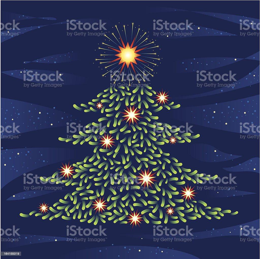 Christmas fireworks royalty-free stock vector art