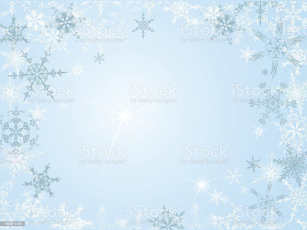 Christmas frame with snowflakes royalty-free stock vector art