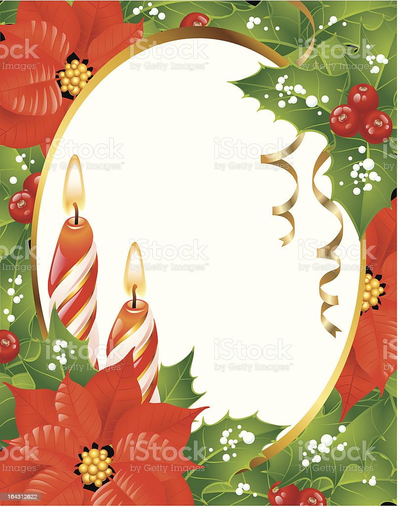 Christmas frame with space for your text royalty-free stock vector art