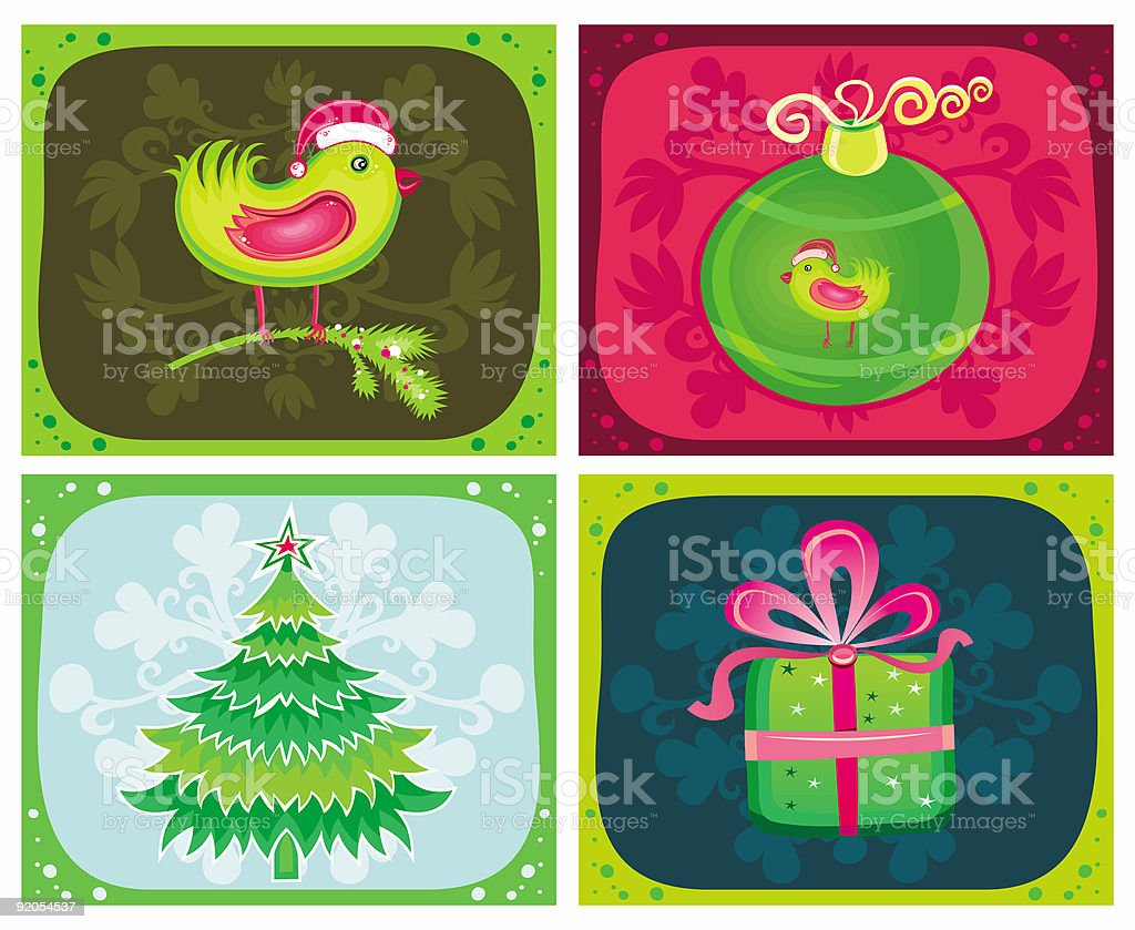 Christmas Greeting cards royalty-free stock vector art