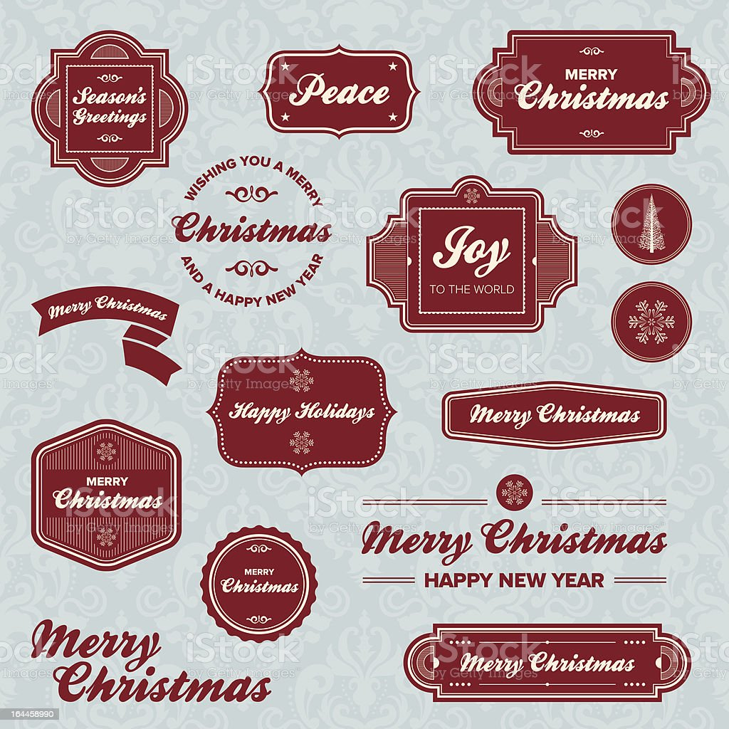 Christmas holiday labels royalty-free stock vector art