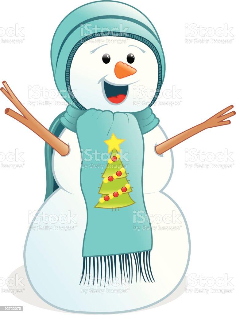 Iceman, nieve de Navidad - ilustración de arte vectorial