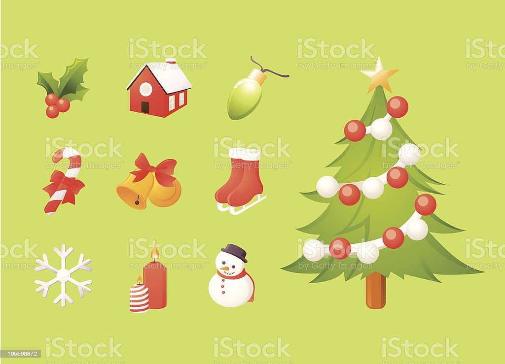 Christmas Icons (2) vector art illustration