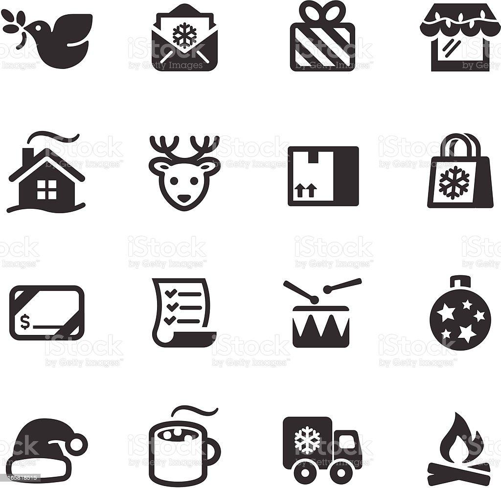 Christmas Icons  -  Mono Series vector art illustration