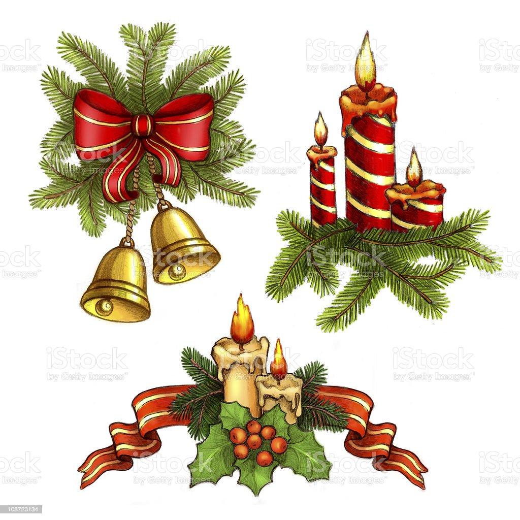 Christmas illustrations royalty-free stock vector art