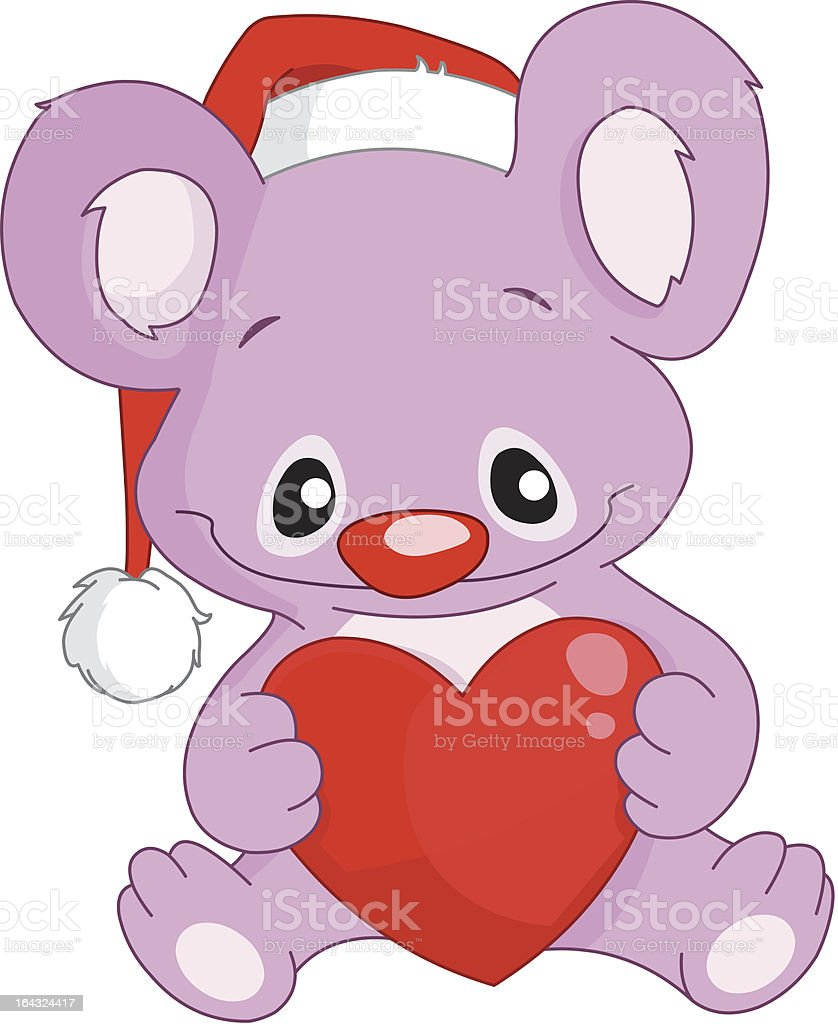Christmas koala royalty-free stock vector art