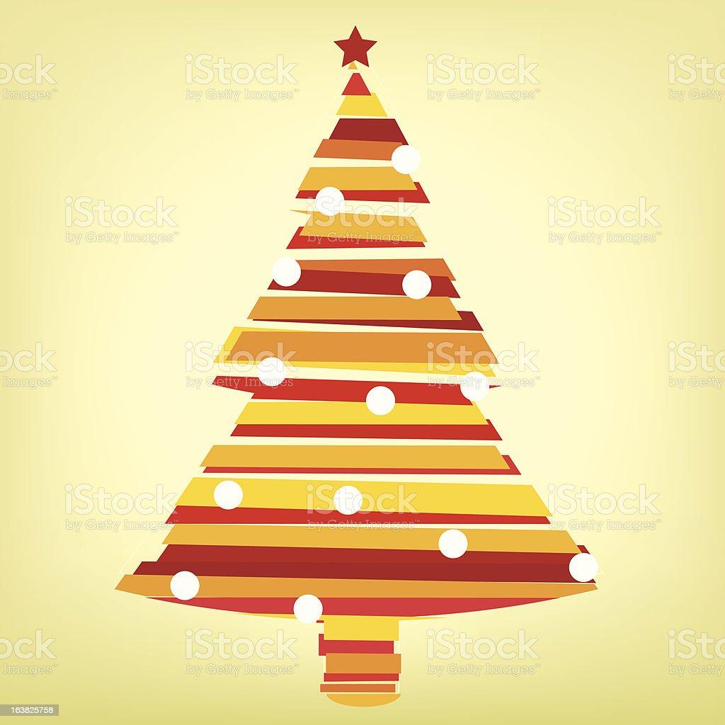christmas line tree royalty-free stock vector art