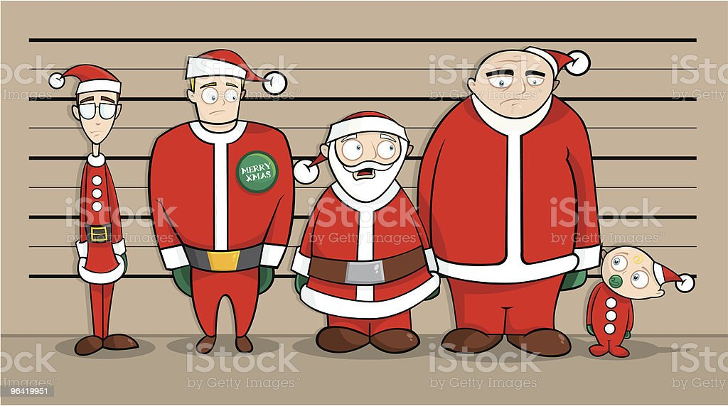 Christmas Line-up royalty-free stock vector art