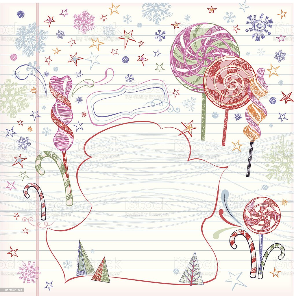 Christmas Lollipops Background (Doodles) royalty-free stock vector art