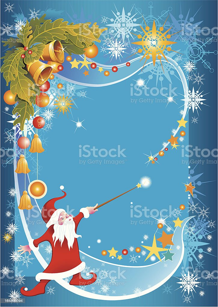 Christmas magic vector art illustration