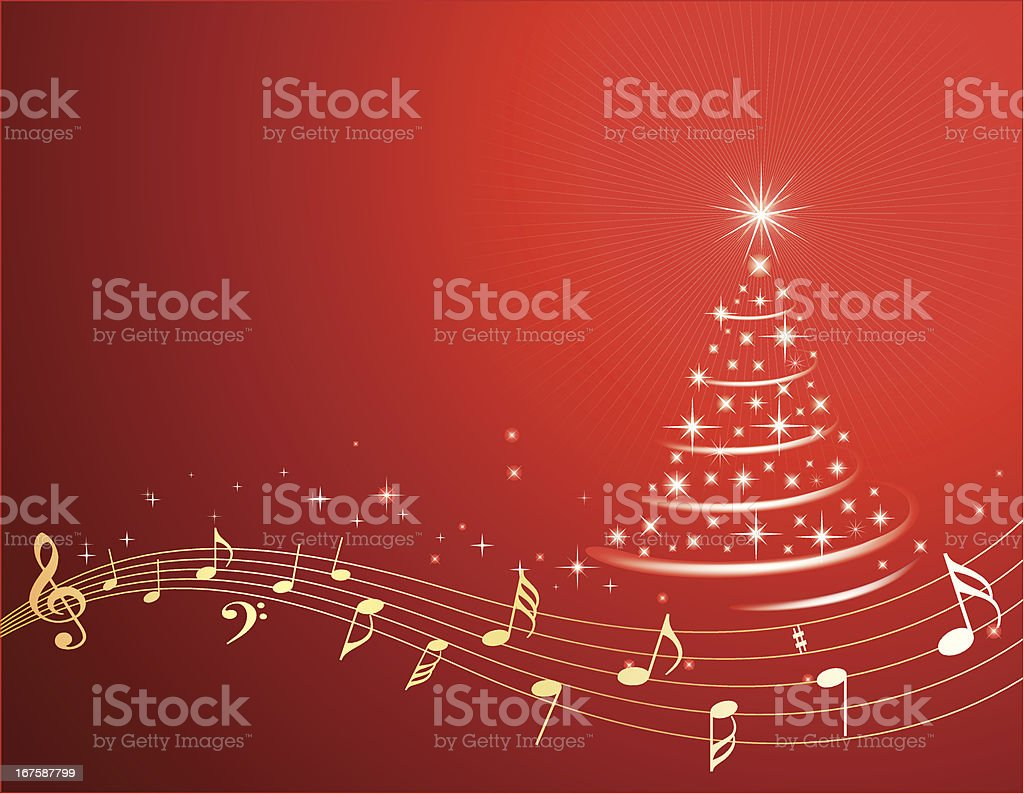 Christmas Music Background royalty-free stock vector art
