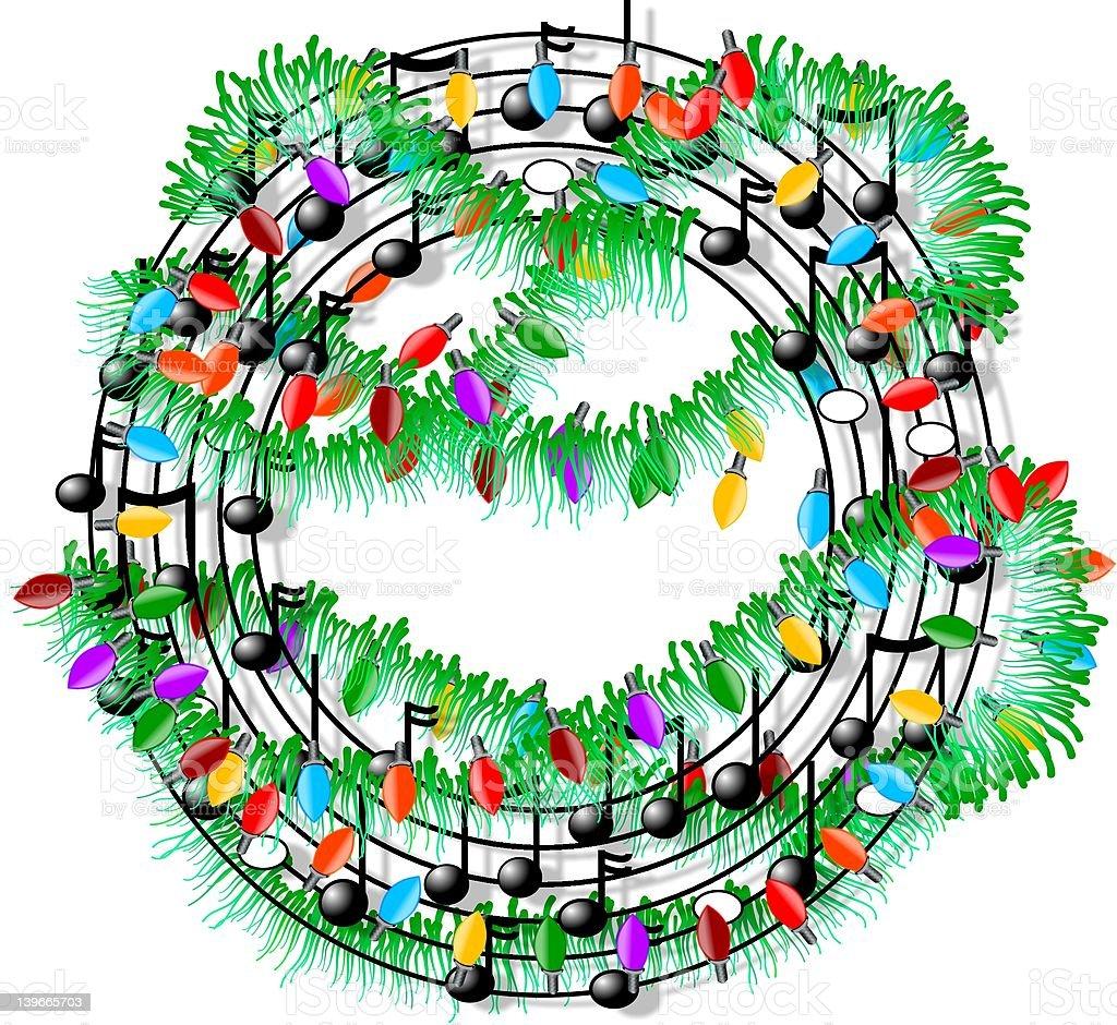 Christmas music royalty-free stock vector art