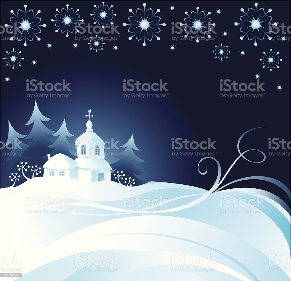 Christmas night background royalty-free stock vector art