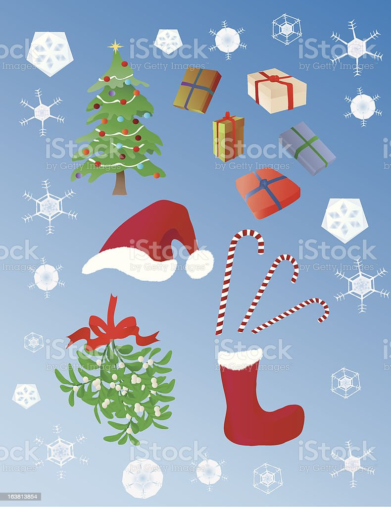 Christmas objects royalty-free stock vector art