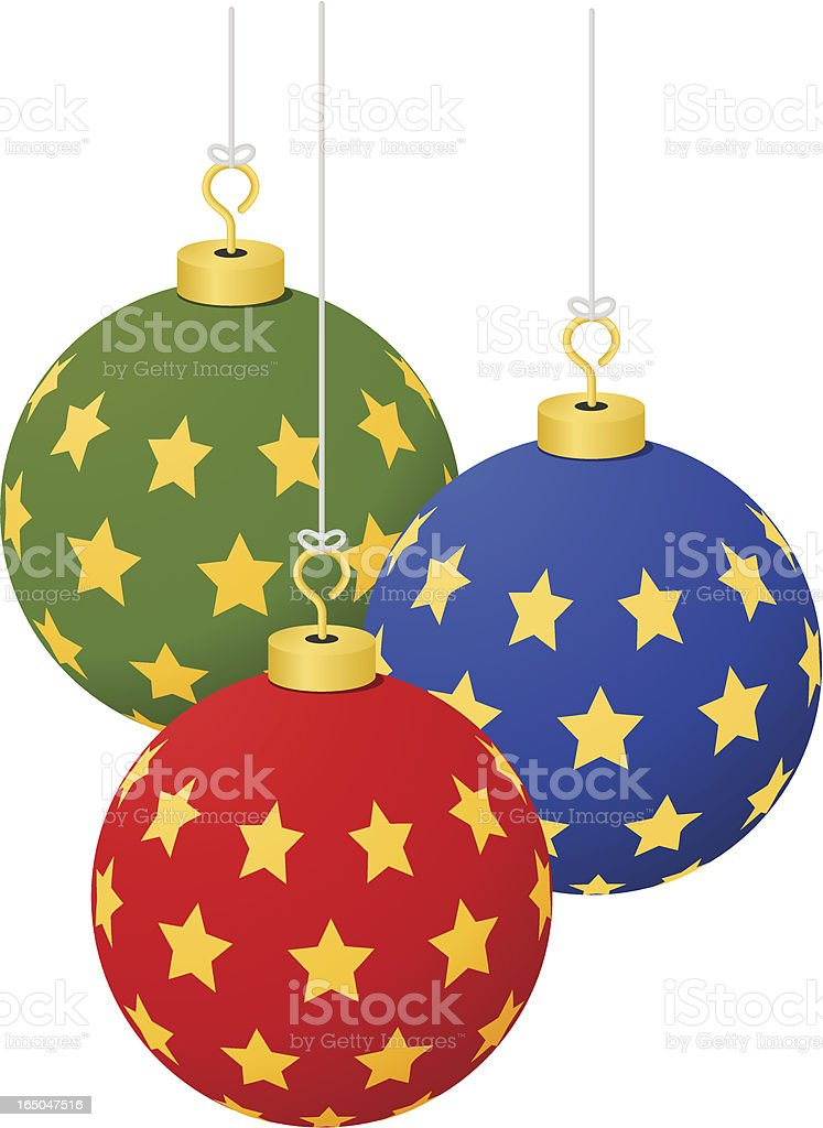 Christmas Ornaments - Stars ( vector ) vector art illustration