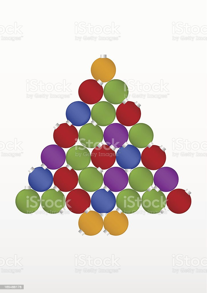 Christmas Ornaments Tree vector art illustration