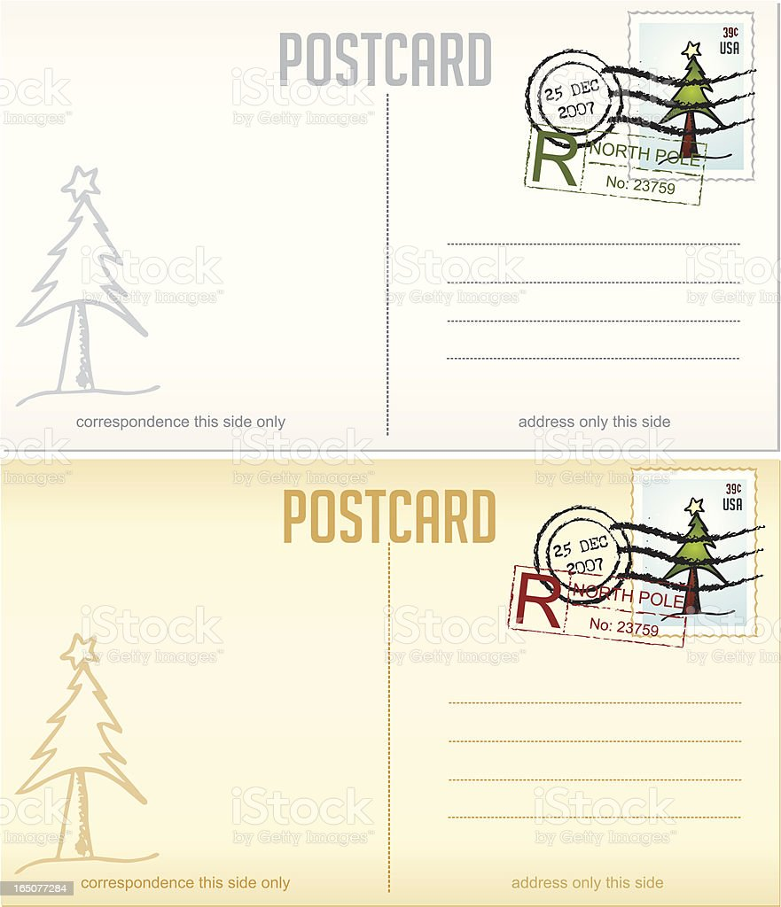 Christmas Postcards Design Elements Series royalty-free stock vector art