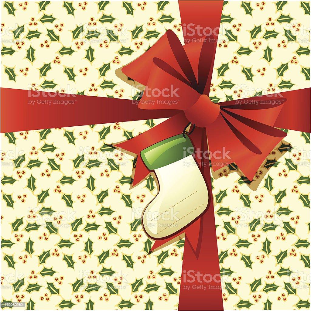 Christmas present royalty-free stock vector art
