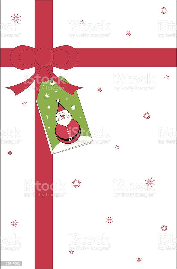 Christmas Present & Tag Background royalty-free stock vector art
