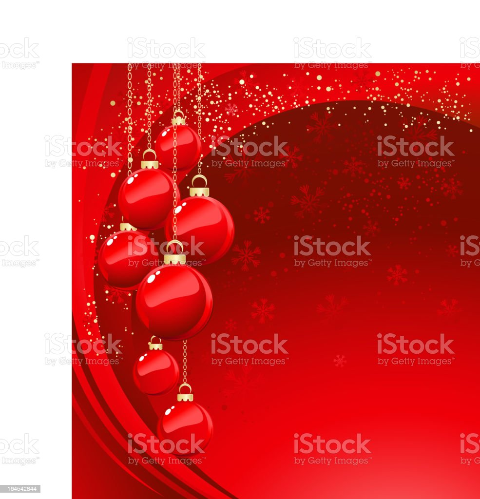 Christmas red banner royalty-free stock vector art