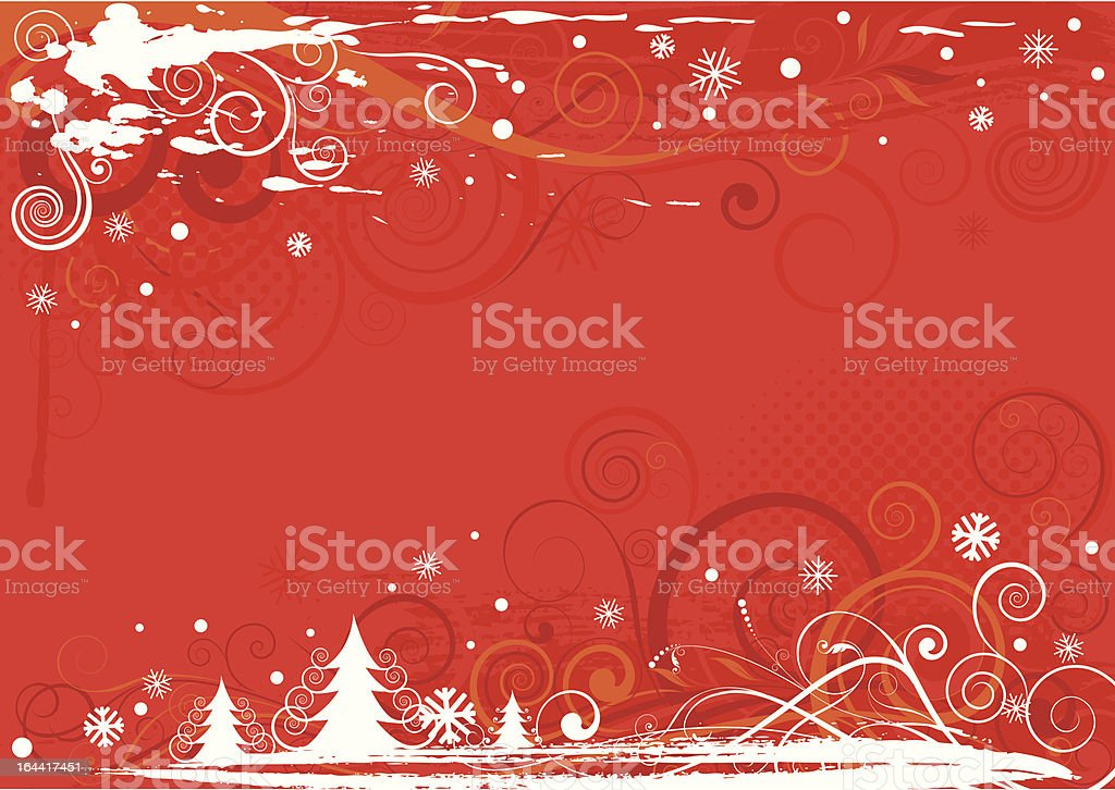 Christmas red design royalty-free stock vector art