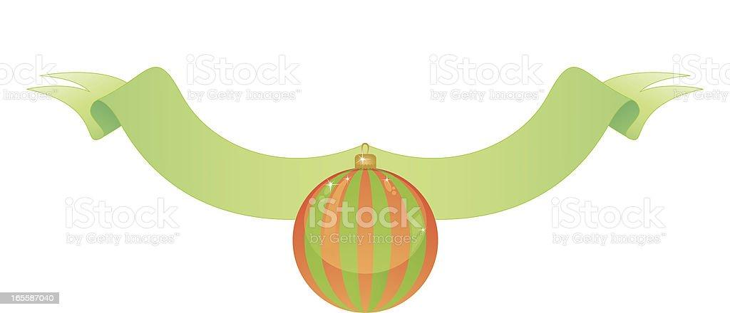 Christmas Ribbon vector art illustration