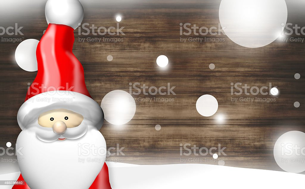 Christmas Santa Claus Happy vector art illustration