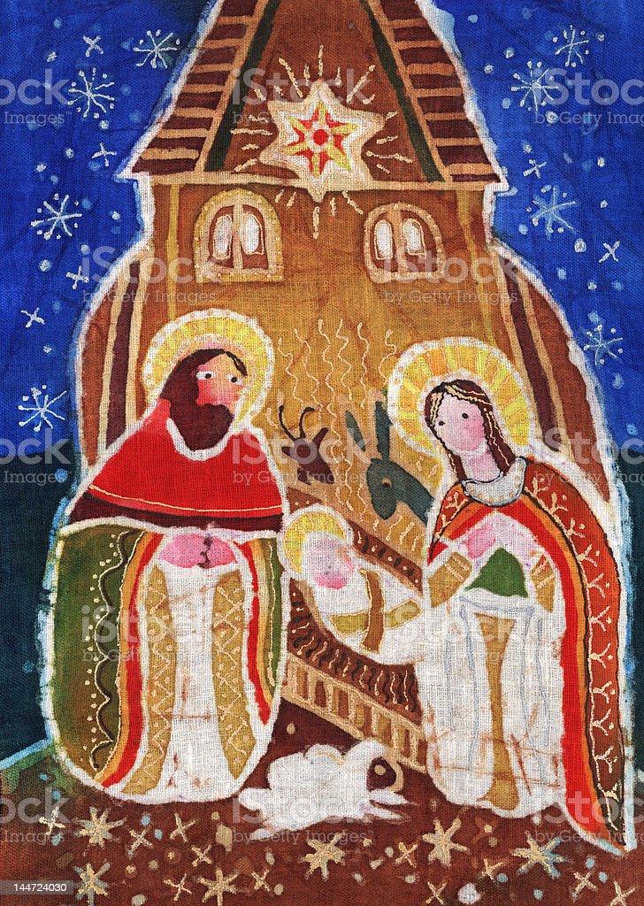Christmas scene royalty-free stock vector art