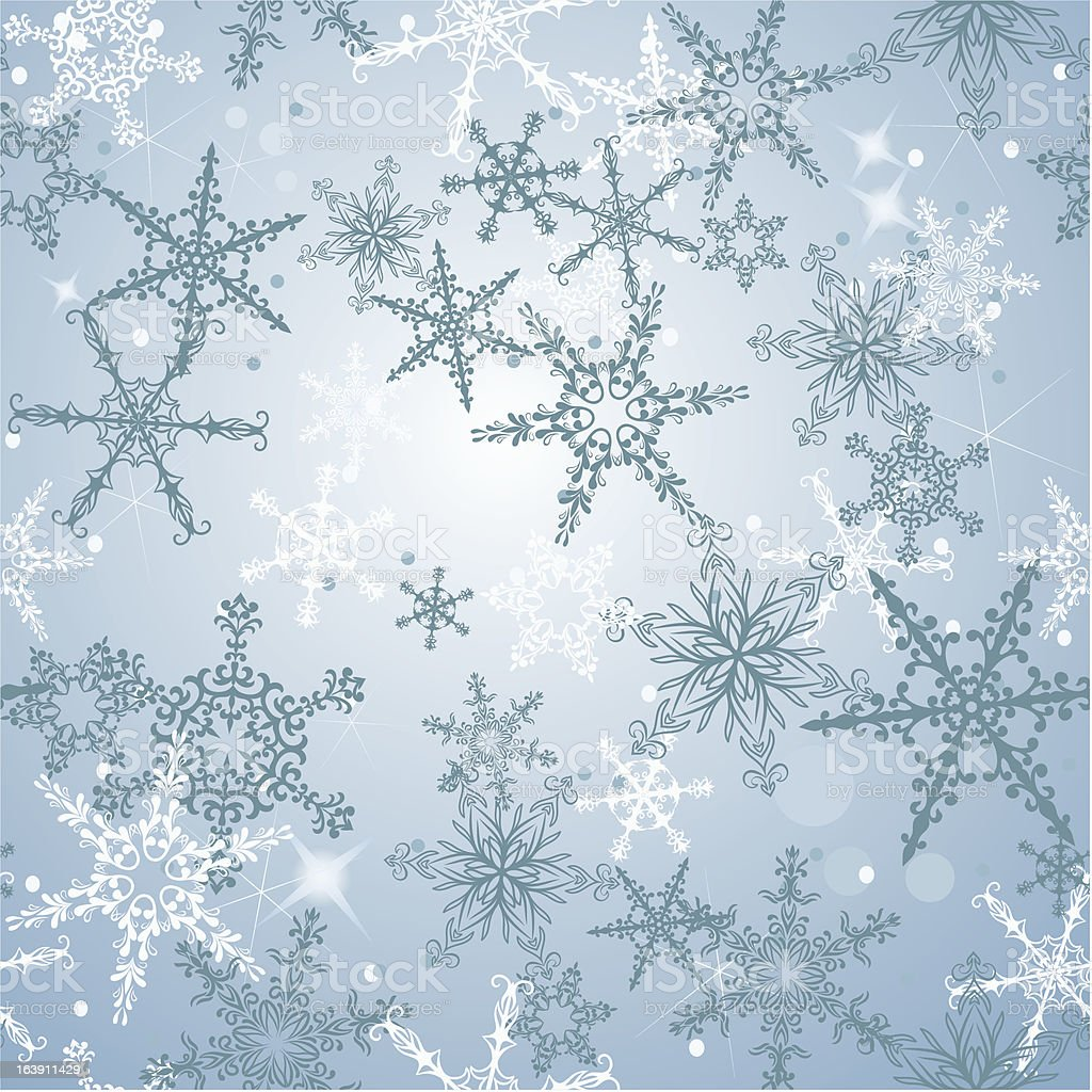Christmas seamless background with snowflakes royalty-free stock vector art