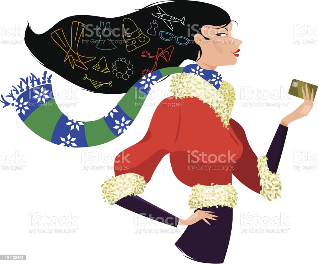 Christmas Season shopping royalty-free stock vector art