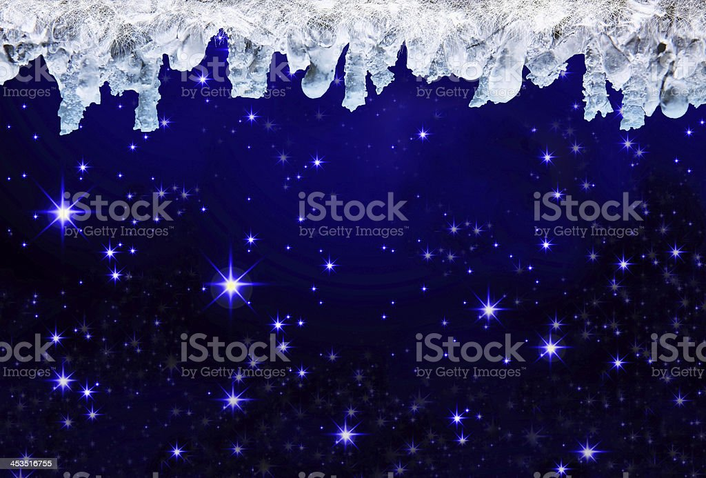 Christmas sky . royalty-free stock vector art